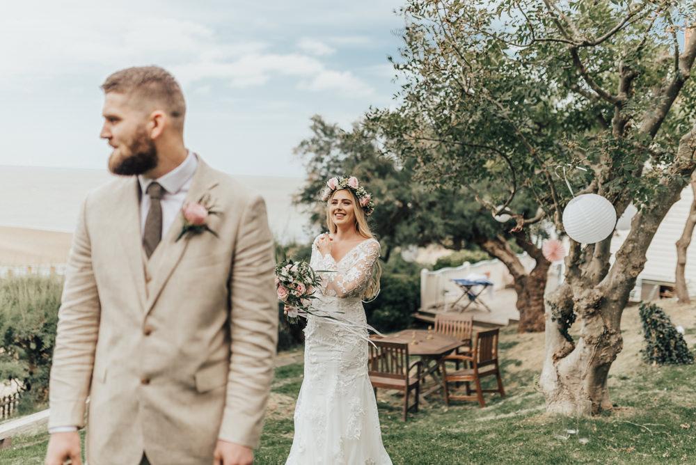 First Look Beacon House Wedding Elopement Rebecca Carpenter Photography