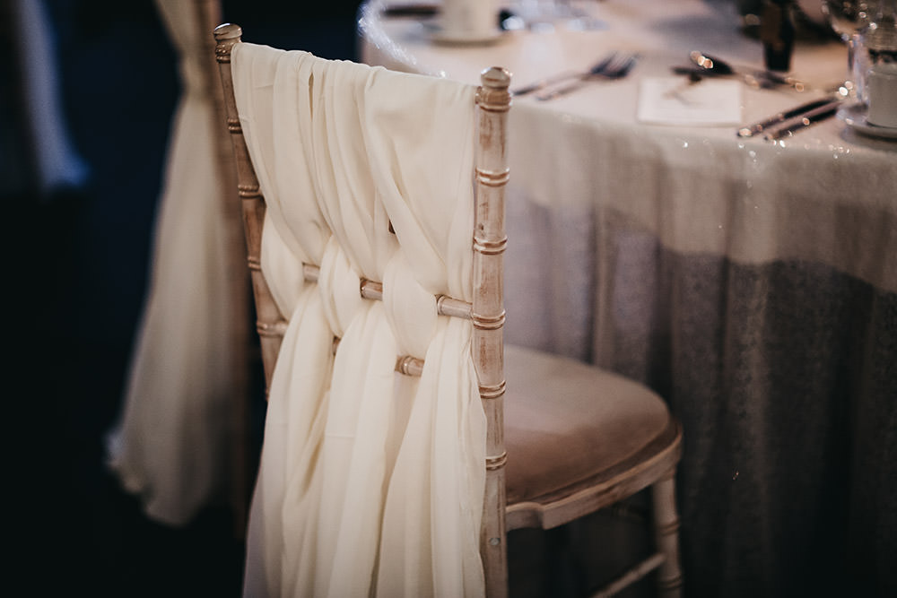 Voile Tulle Chair Back Braid Big Barn Wedding Ashley The Vedrines Photography