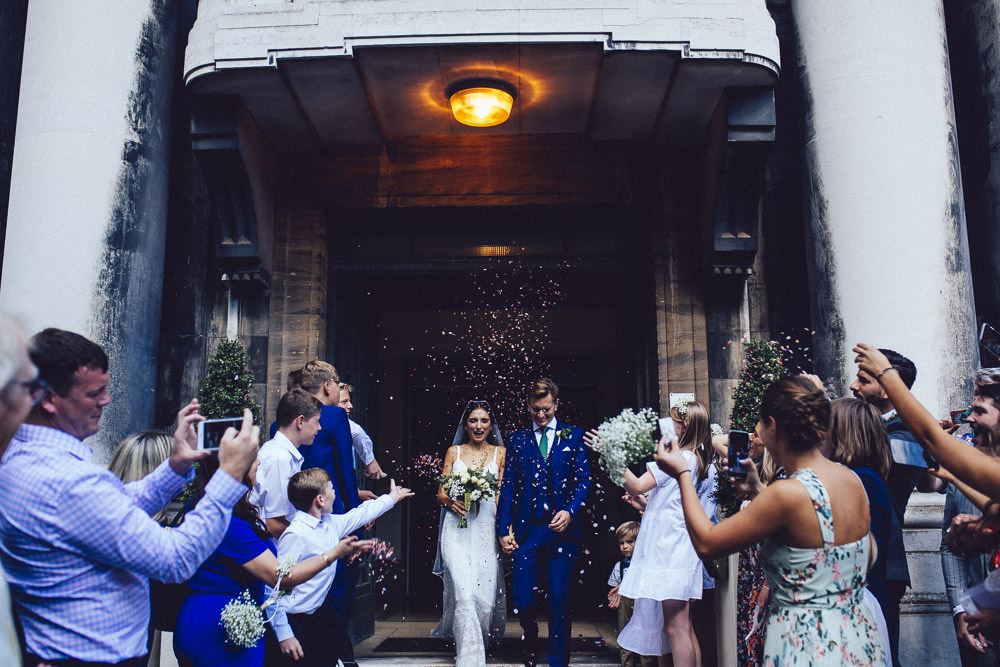 Confetti Throw Clapton Country Club Wedding Curious Rose Photography