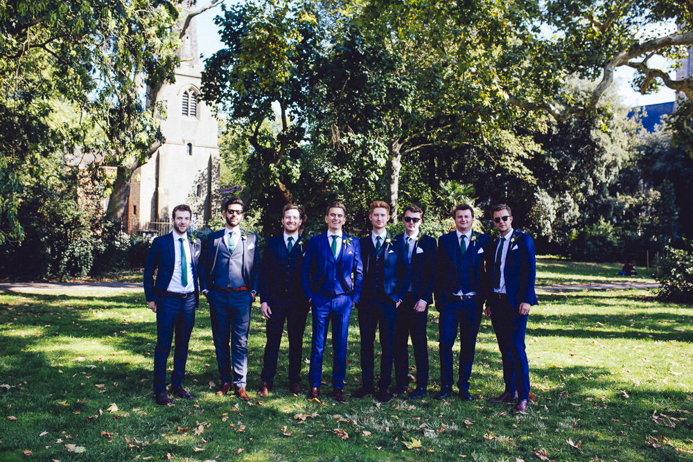 Groom Groomsmen Navy Suits Clapton Country Club Wedding Curious Rose Photography