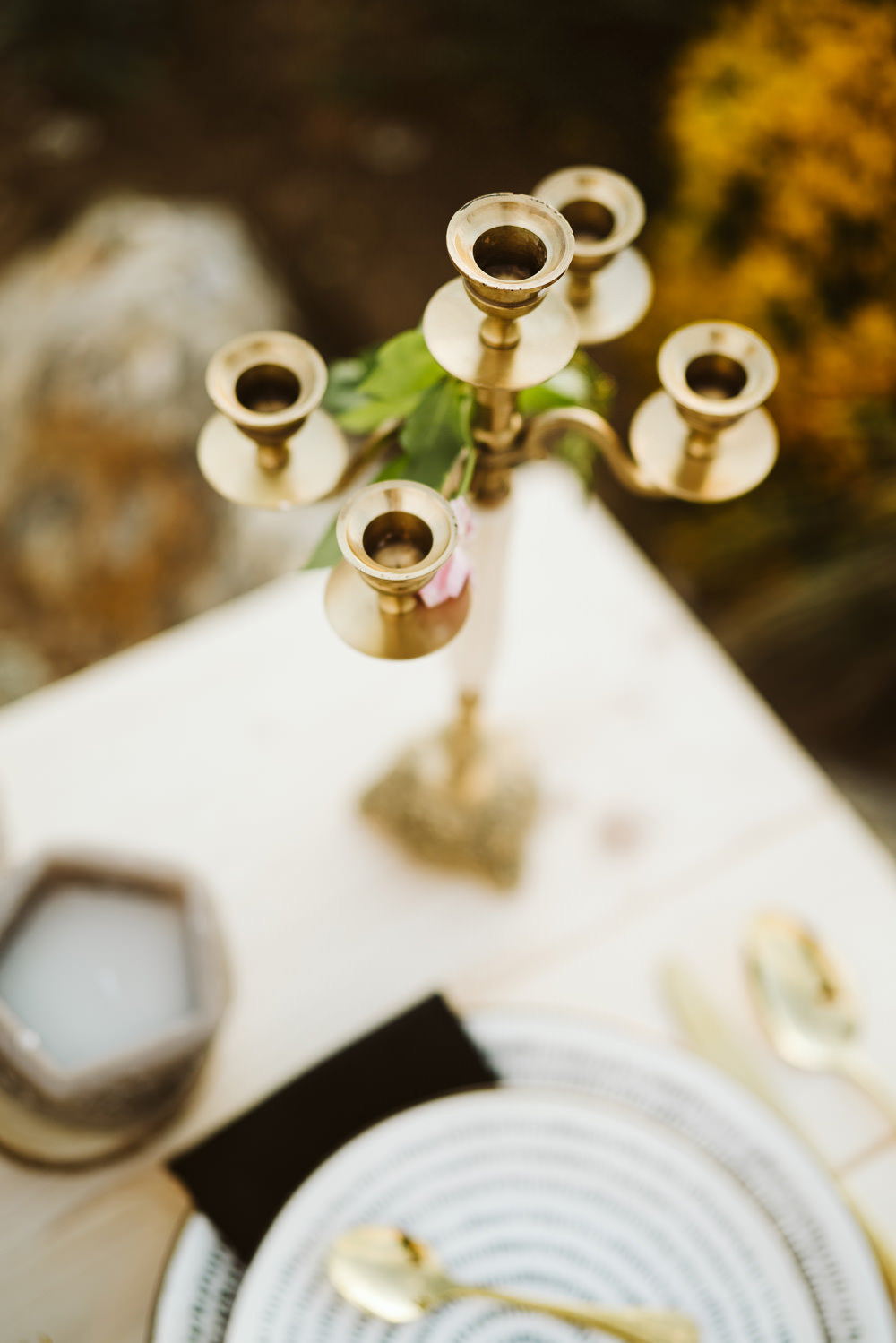 Candlestick Table Decor Clifftop Portugal Wedding Ideas John Barwood Photography