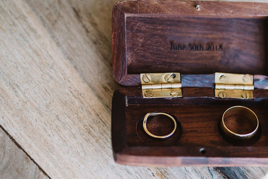 Wooden Ring Box Eco Friendly Wedding The Stag and the Doe