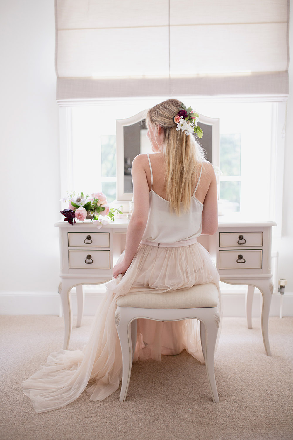 Bride Bridal Prep Morning Dressing Table Light Airy Summer Wedding Ideas Charlotte Palazzo Photography