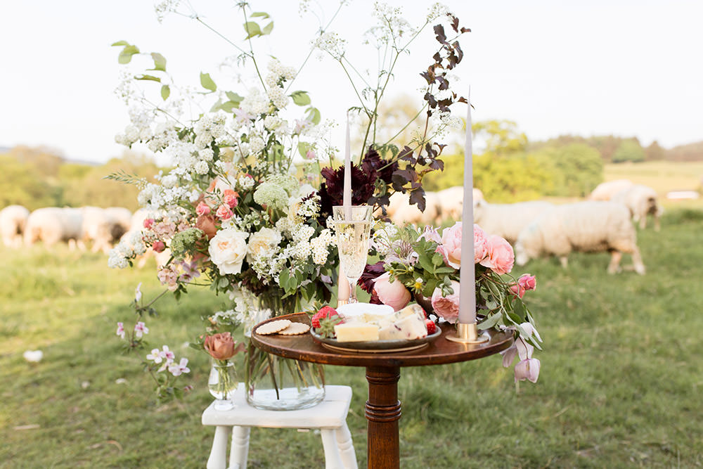 Table Decor Flowers Candles Wild Natural Whimsical Light Airy Summer Wedding Ideas Charlotte Palazzo Photography