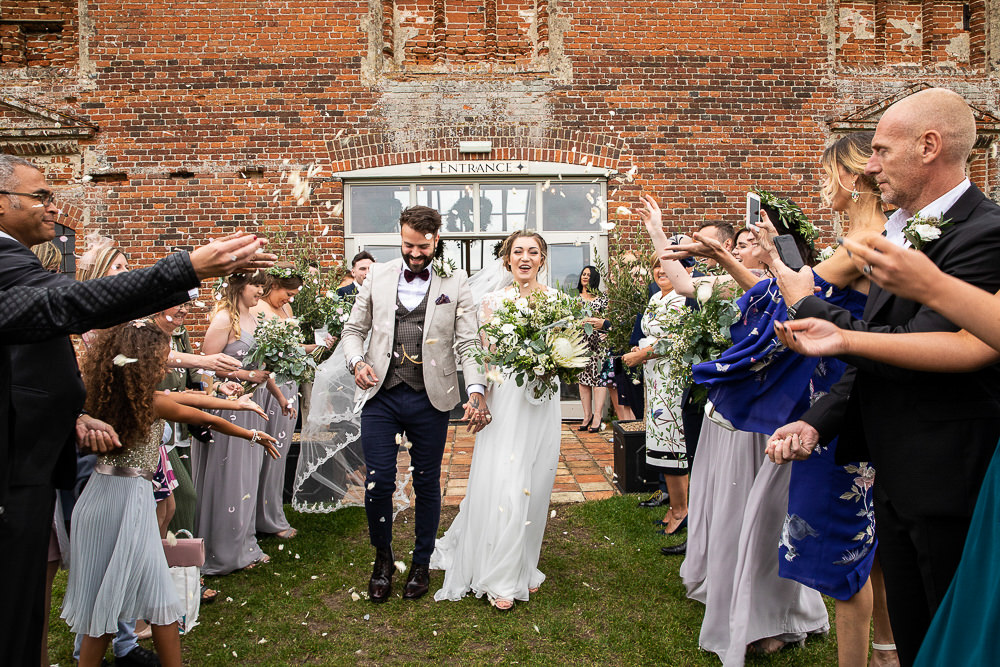 Confetti Throw Rustic Botanical Barn Wedding Lorna Newman Photography