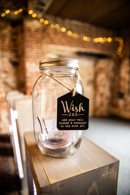 Wish Jar Guest Book Rustic Botanical Barn Wedding Lorna Newman Photography