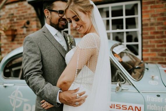 Bride Bridal Dress Gown Sottero and Midgeley Tassel Sleeves Back Beaded Fringed Bell Ticehurst Wedding Irene Yap Photography