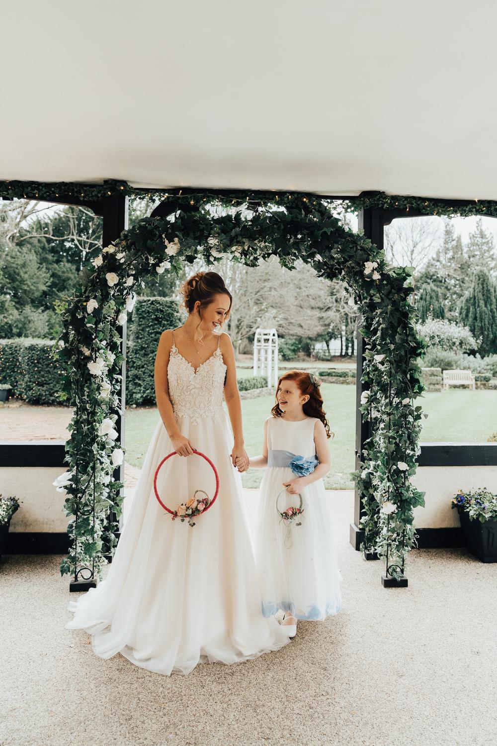 Greenery Foliage Arch Flower Backdrop Hoop Wedding Ideas Rebecca Carpenter Photography