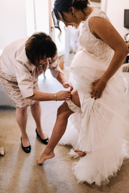 Bride Bridal Garter Accessory Kingscote Barn Wedding Oobaloos Photography