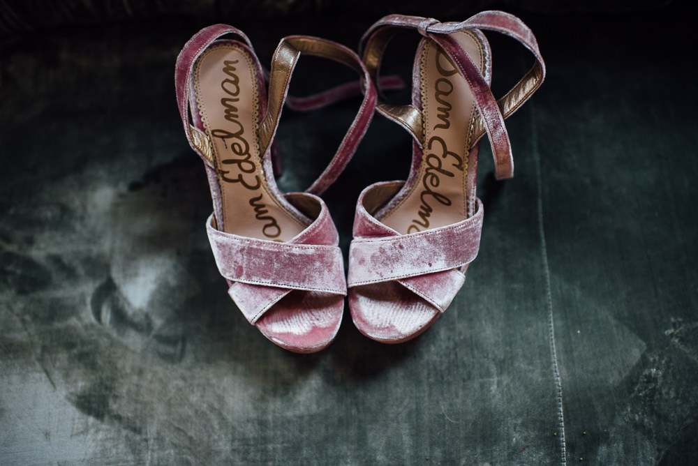 Pink Velvet Shoes Bride Bridal St Paul's Cathedral Wedding The Shannons Photography