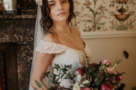 Bouquet Flowers Bride Bridal Hellebores Ranunculus Tulips Roses Edwardian Wedding Ideas Camilla Andrea Photography