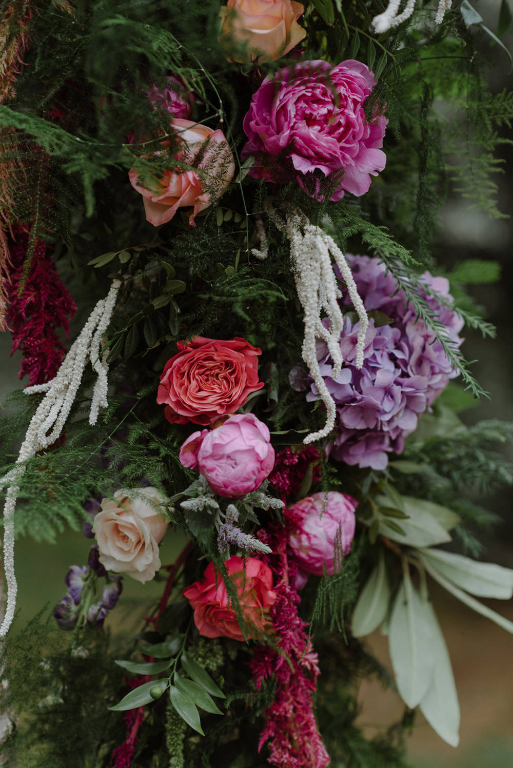 Carnation Peony Pink Greenery Foliage Felin Newydd House Wedding Christopherian.co.uk