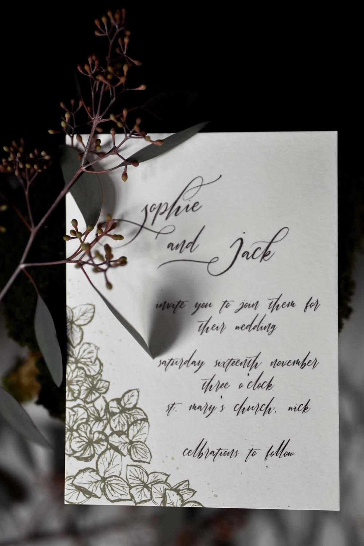 Calligraphy Stationery Botanical Invite Invitation Game Of Thrones Wedding Tara Florence