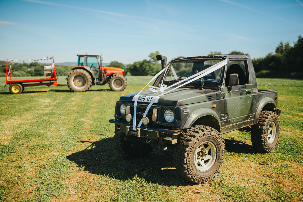 Army Jeep Bridal Transport Kittisford Barton Wedding Joab Smith Photography