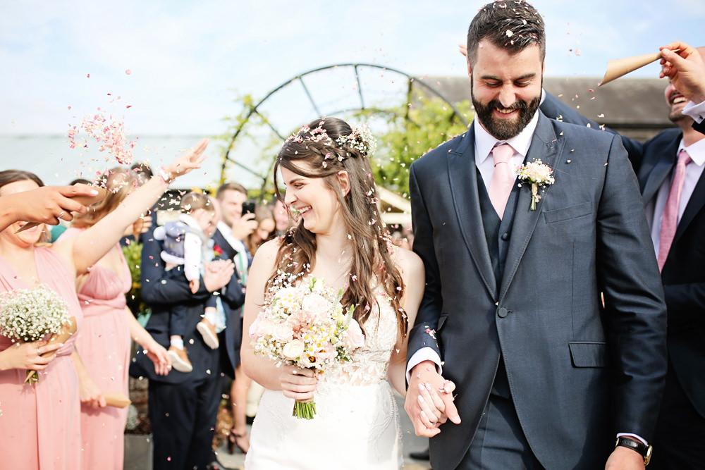 Confetti Throw Milling Barn Wedding Victoria Mitchell Photography