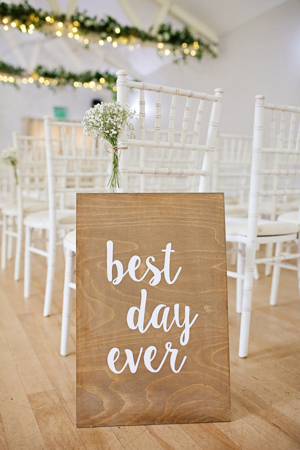 Wooden Sign Signage Calligraphy Lettering Quote Milling Barn Wedding Victoria Mitchell Photography