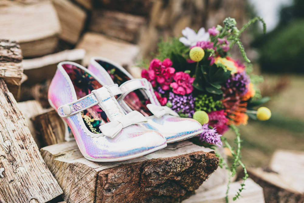 Irregular Choice Shoes Bride Bridal Rock Village Hall Wedding Lucie Hamilton Photography