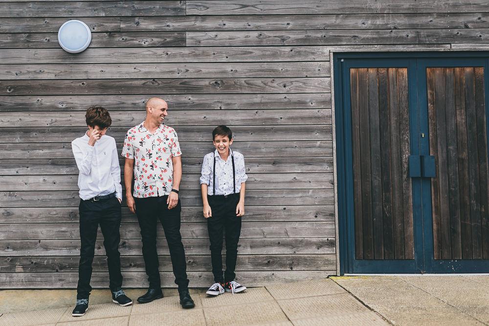 Groom Page Boys Braces Floral Shirts Rock Village Hall Wedding Lucie Hamilton Photography