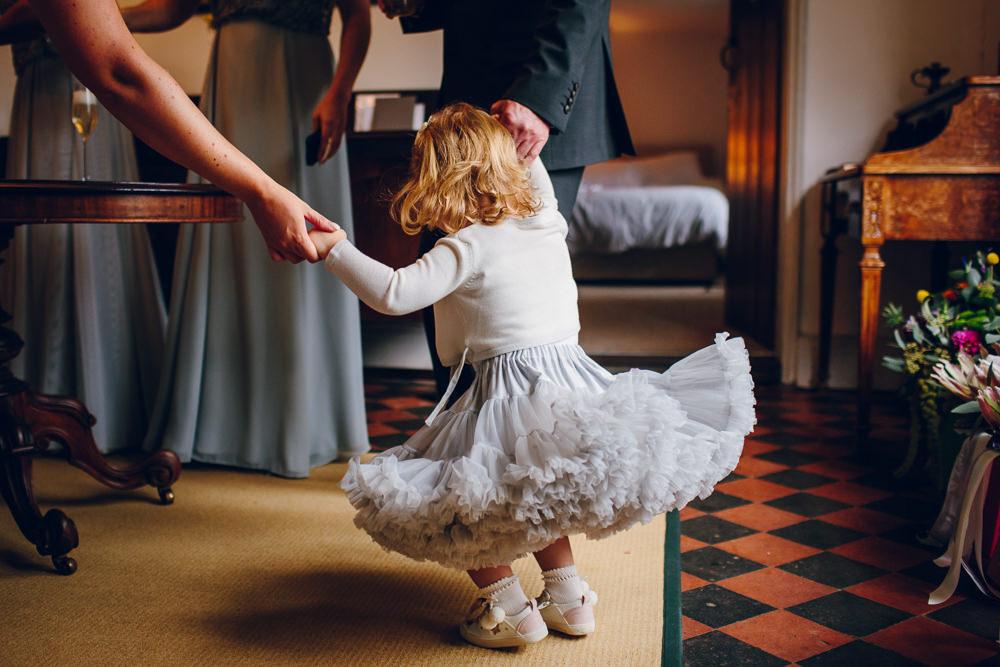 Flower Girl Tulle Skirt Tatton Wedding Stock Farm Barn Amy B Photography