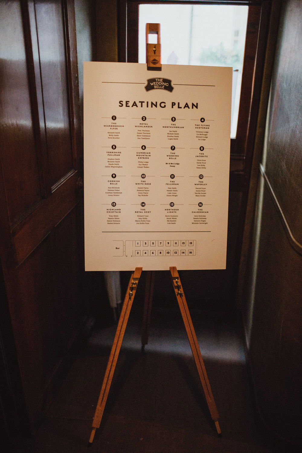 Seating Plan Table Chart Train Station Harry Potter Wedding Photography34