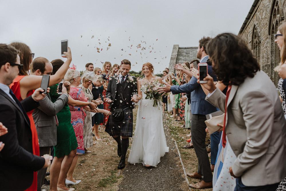 Confetti Throw Bre Pen Farm Wedding Nick Walker Photography