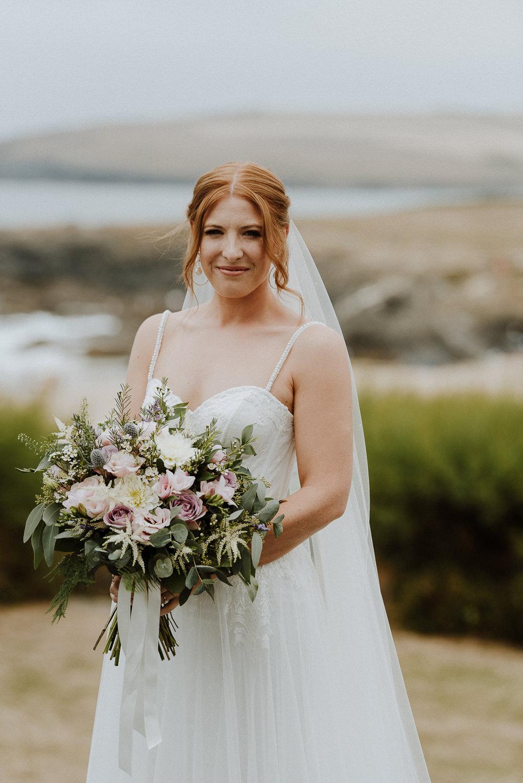Bride Bridal Dress Gown Straps Train Tulle Veil Bre Pen Farm Wedding Nick Walker Photography