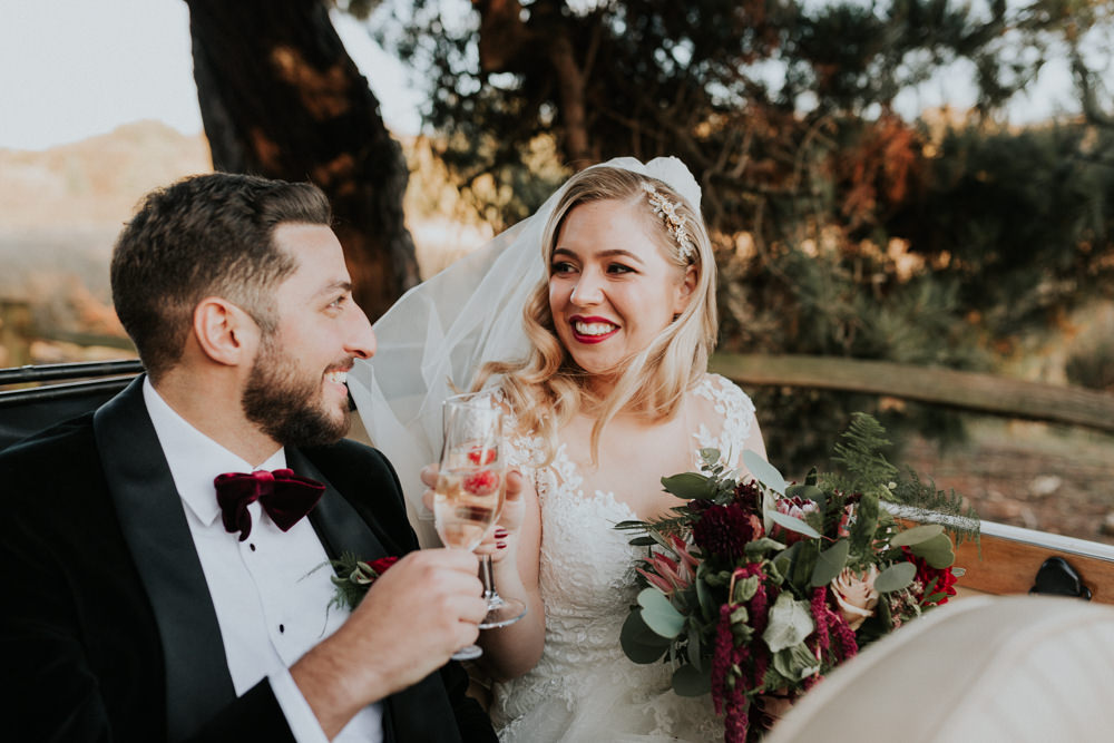 Bride Bridal Cap Sleeve Lace Overlay Dress Gown Veil Velvet Tuxedo Burgundy Bow Tie Groom Gaynes Park Wedding Kate Gray Photography