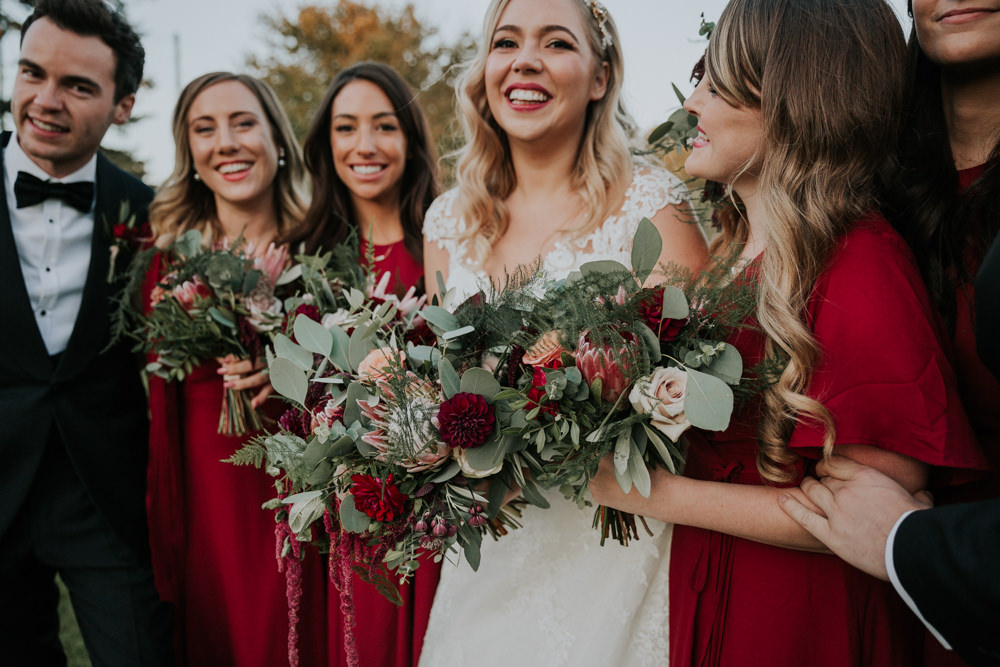 Bride Bridal Bridesmaids Greenery Eucalyptus Dahlia Rose Bouquet Gaynes Park Wedding Kate Gray Photography