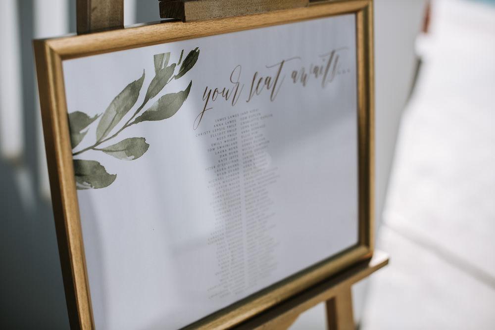 Table Plan Leaf Design Modern Calligraphy Portugal Destination Wedding Ana Parker Photography