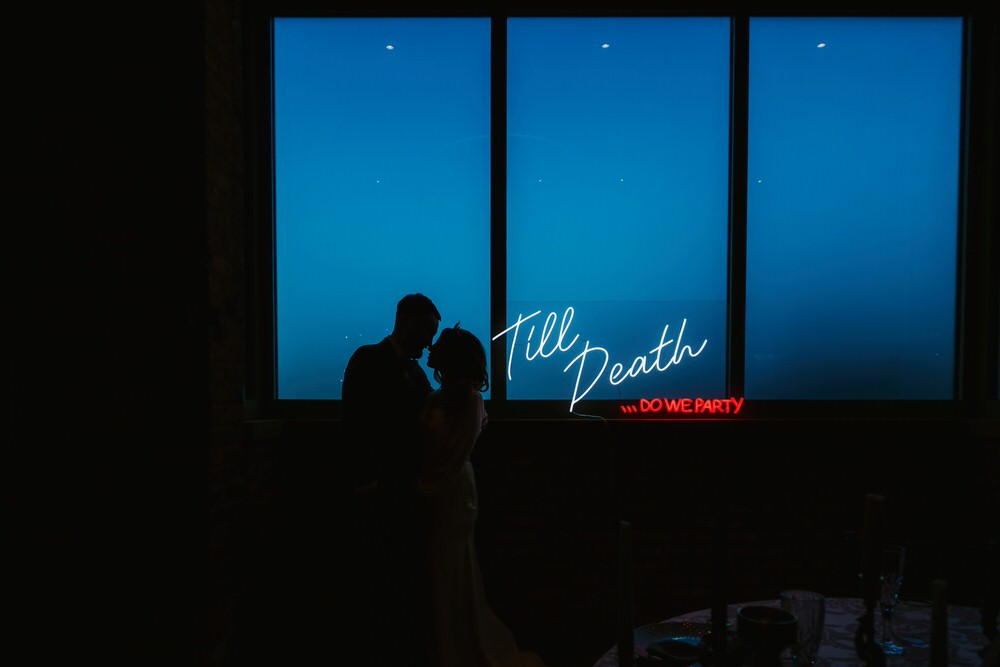 Neon Sign Signage Romantic Wedding Ideas Neon Lighting Kate McCarthy Photography