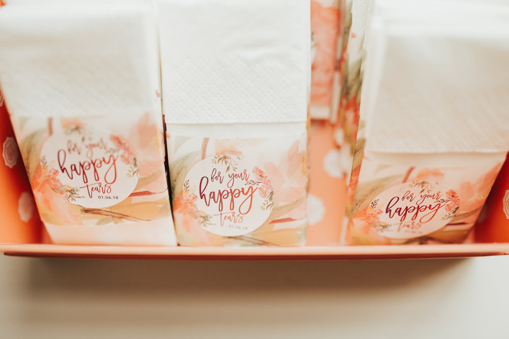 Personalised Tissues Ceremony Stubton Hall Wedding Darina Stoda Photography