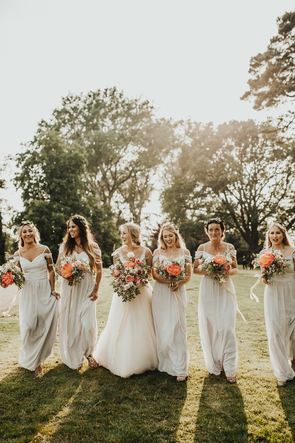 Bridesmaid Bridesmaids Dress Dresses Long Maxi Grey Stubton Hall Wedding Darina Stoda Photography