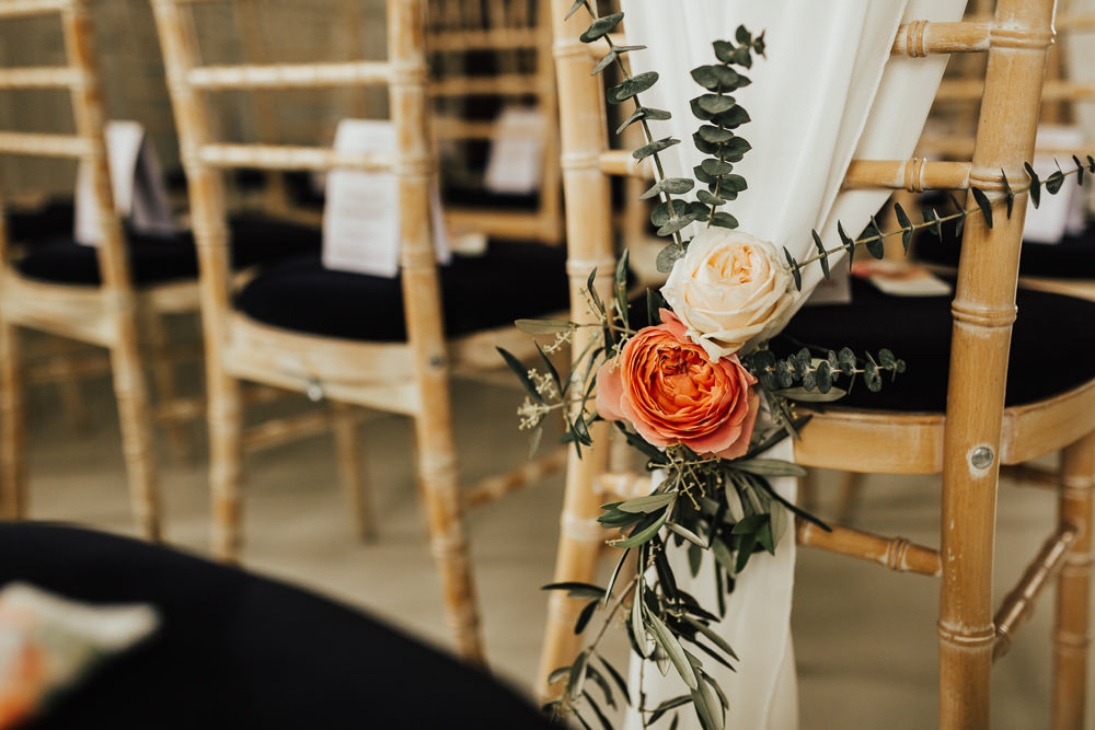 Chair Decor Backs Fabric Flowers Stubton Hall Wedding Darina Stoda Photography