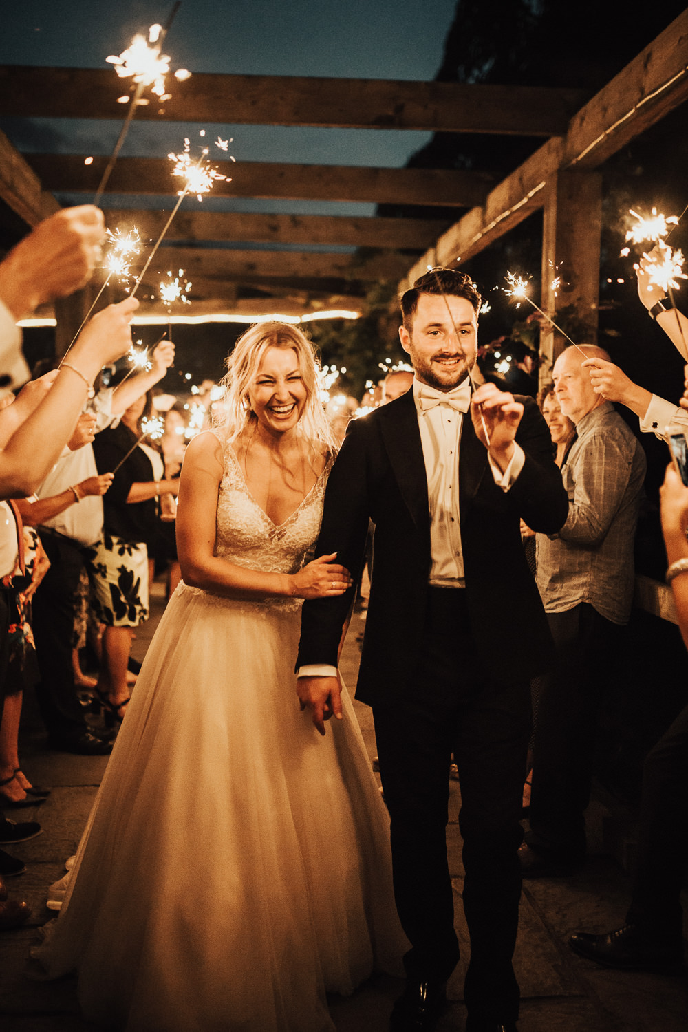 Sparklers Send Off Exit Stubton Hall Wedding Darina Stoda Photography