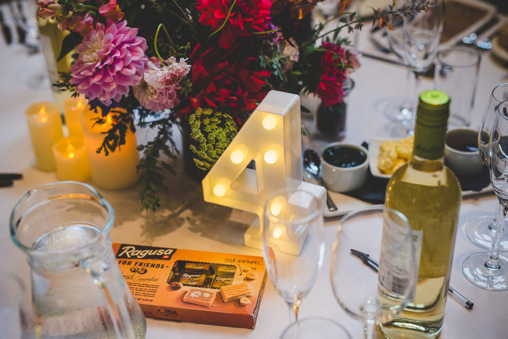 Light Up Circus Table Number Bulb Victoria Gallery Museum Wedding Emma Hillier Photography
