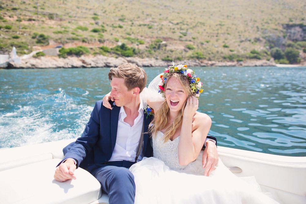 Boat Transport Kefalonia Wedding Cotton Candy Weddings