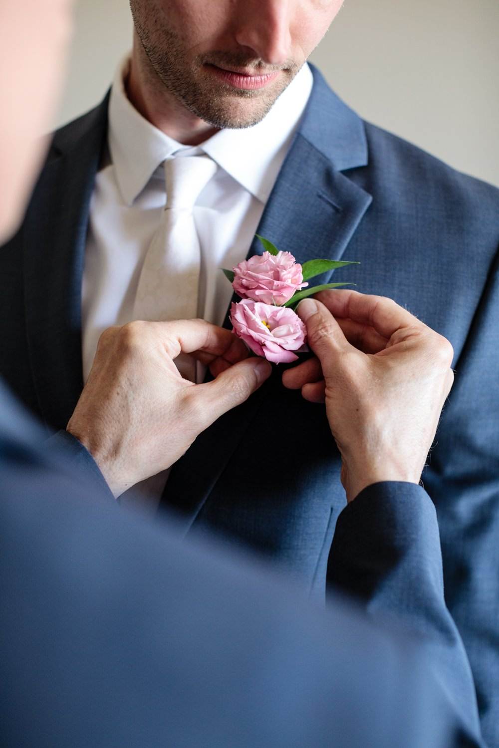 Groom Buttonhole Flowers Pink Rose Los Cabos Wedding Anna Gomes Photo