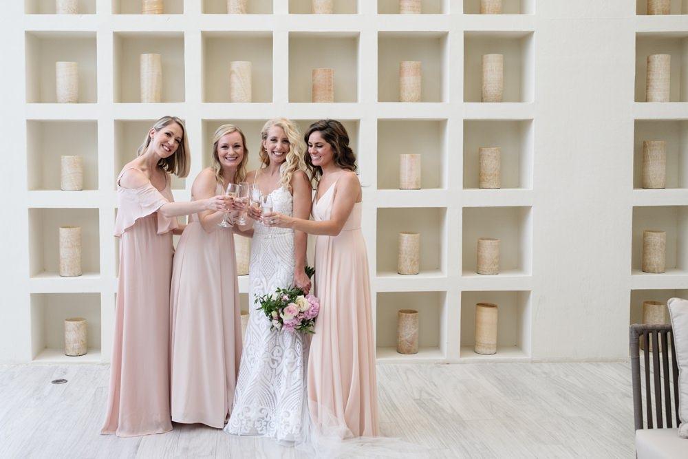 Bridesmaids Bridesmaid Dress Dresses Pink Long Blush Los Cabos Wedding Anna Gomes Photo