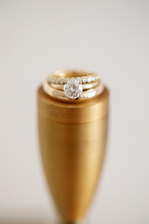 Yellow Gold Engagement Diamind Ring Band Los Cabos Wedding Anna Gomes Photo