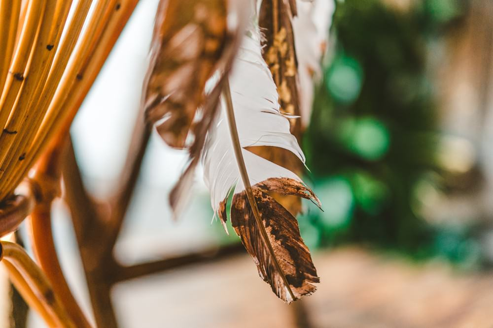 Gold Dipped Feathers Brass Pampas Grass Wedding Ideas Tim Stephenson Photography