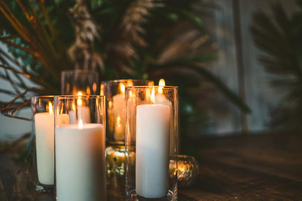 Candles Lighting Pampas Grass Wedding Ideas Tim Stephenson Photography