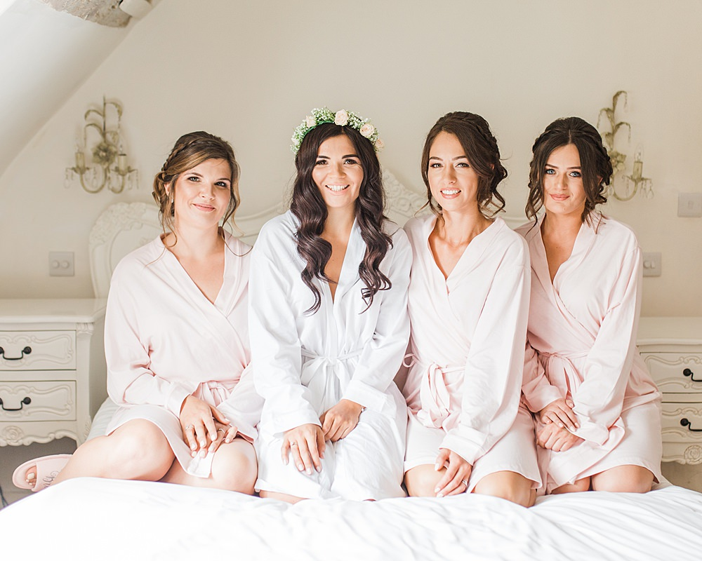Bride Bridal Bridesmaids Dressing Gowns Robes Sheene Mill Wedding Terri & Lori Photography and Film Studio