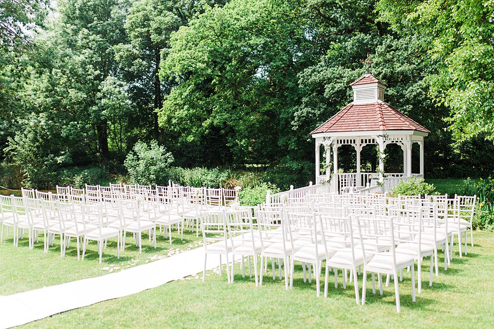 Outdoor Ceremony Gazebo Sheene Mill Wedding Terri & Lori Photography and Film Studio