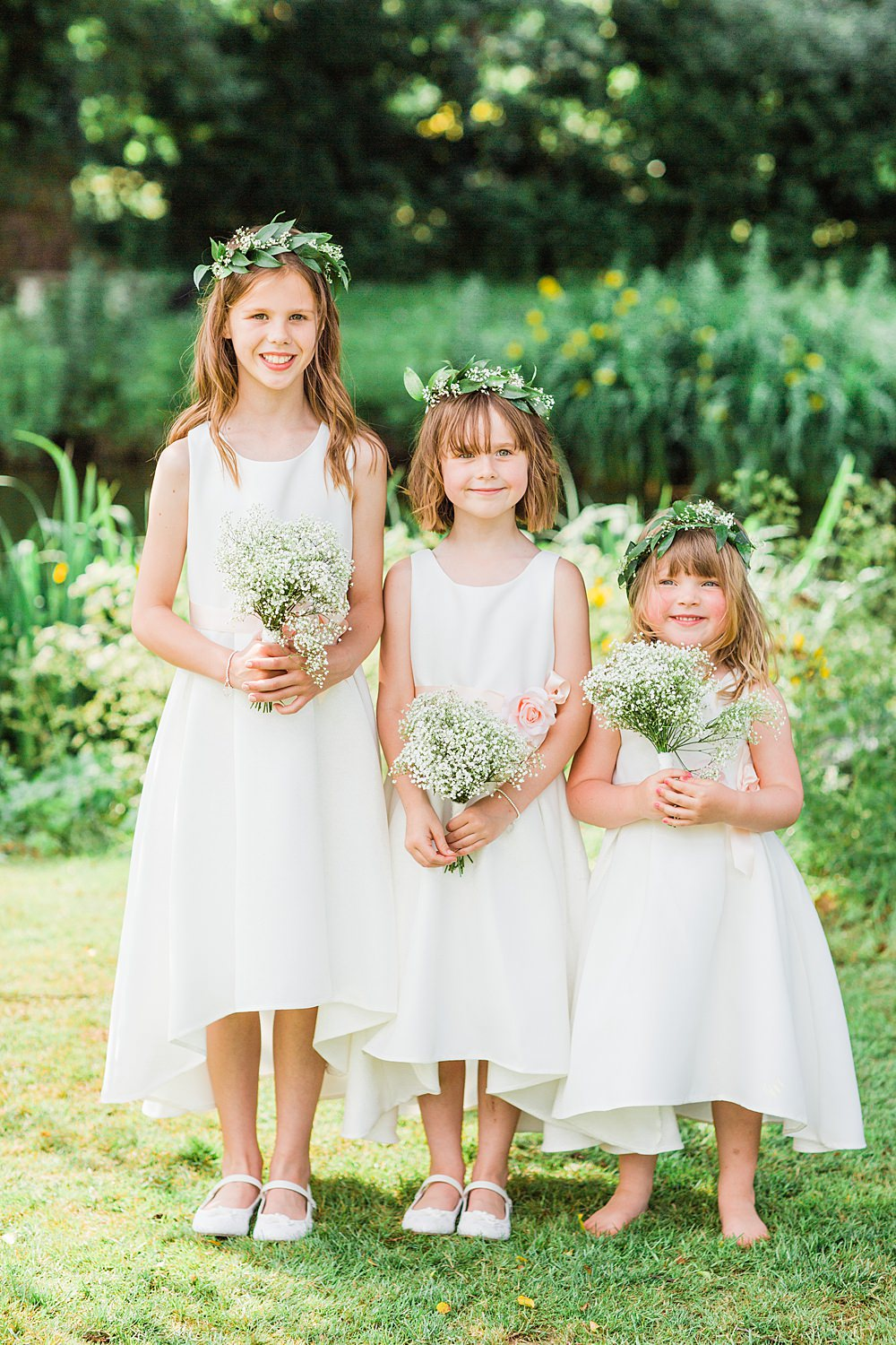 Flower Girls Flower Crowns Sheene Mill Wedding Terri & Lori Photography and Film Studio
