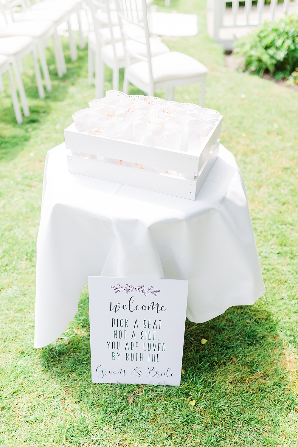 Confetti Cones Table Station Sheene Mill Wedding Terri & Lori Photography and Film Studio