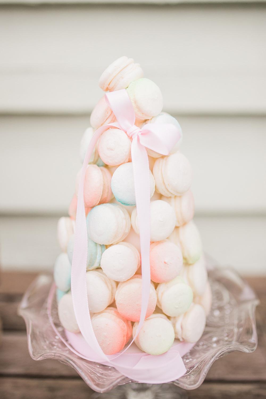 Macaron Tower Pastel Ribbon Springtime Bridal Shower Ideas Hen Party Laura Jane Photography