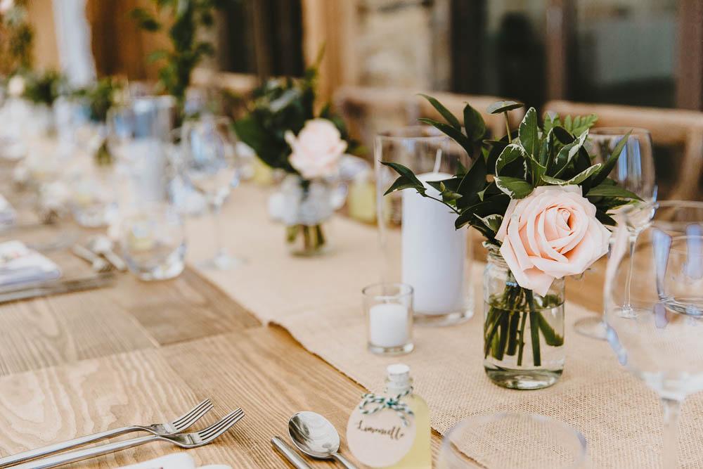 Table Decor Hessian Burlap Rustic Trevenna Barns Wedding Wild Tide Creative