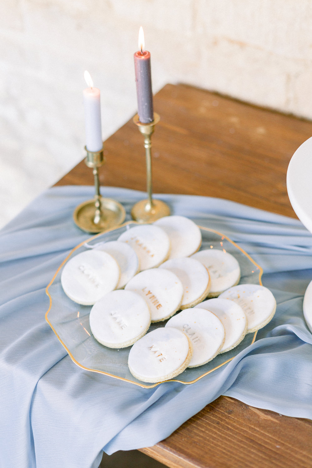 Cookies Winter Blue Barn Wedding Ideas Joanna Briggs Photography