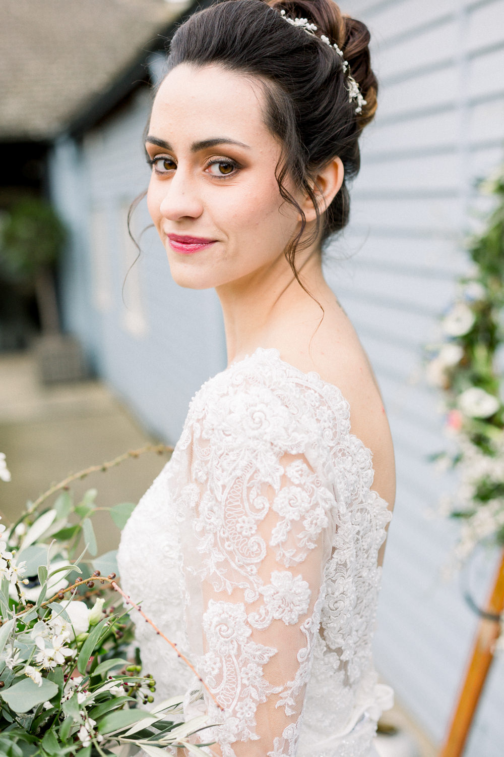 Bride Bridal Make Up Beauty Winter Blue Barn Wedding Ideas Joanna Briggs Photography