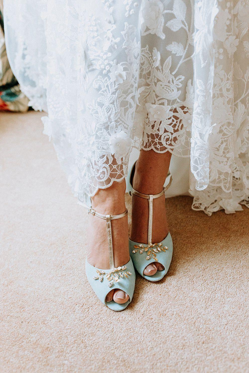 Shoes Peep Toe Bride Bridal Blue Gold Wedding Ideas Ailsa Reeve Photography